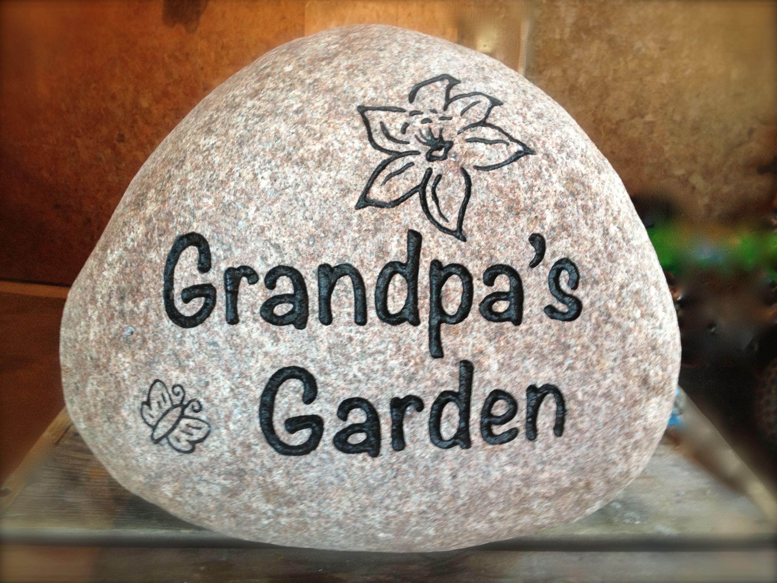 Custom Name Garden Stone