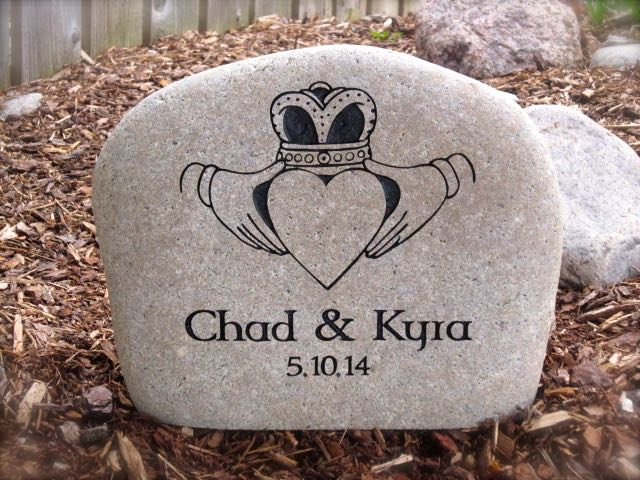 Custom Engraved Wedding Stones
